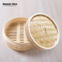 Бамбуковый отпариватель одна клетка + крышка корзина для риса