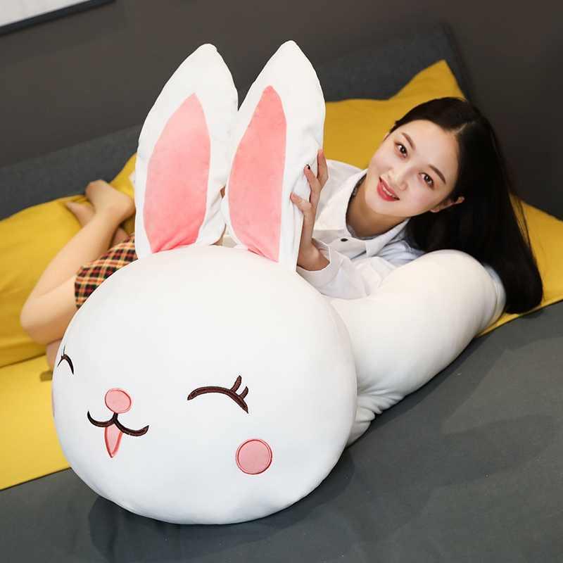 Gorący duży rozmiar Super miękki miś pluszowa zabawka miękka wypchana kreskówka zwierzę Kawaii lalka-królik towarzyszyć króliczek poduszka miś poduszka