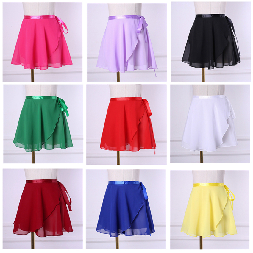 19 Colors Woman Dance Basic Ballet Skirt Girls Practice Dancing Skirt Women Chiffon Performance Dancewear  Ballerina Costumes