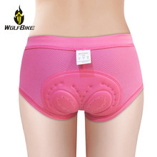 Wolfbike Womens Cycling Underwear Tights Shorts Gel Padded Shockproof Underpant Breathable Bicycle Bike Riding MTB