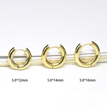 2020 Trend Round Chunky Gold Hoops Earrings Man Women's Earrings Korean Stainless Steel Big Earrings Black Gothic Jewelry Paired