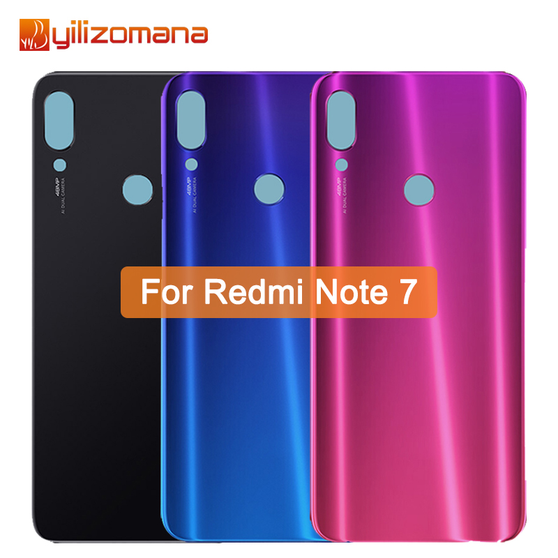 YILIZOMANA Original Replacement Battery Back Cover For Xiaomi Redmi Note 7 Phone Rear Door Housings Hard Case Free Tools