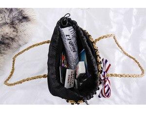 Image 5 - New straw wrapped scarf decoration black beads Hawaiian style single shoulder slanting lady bag