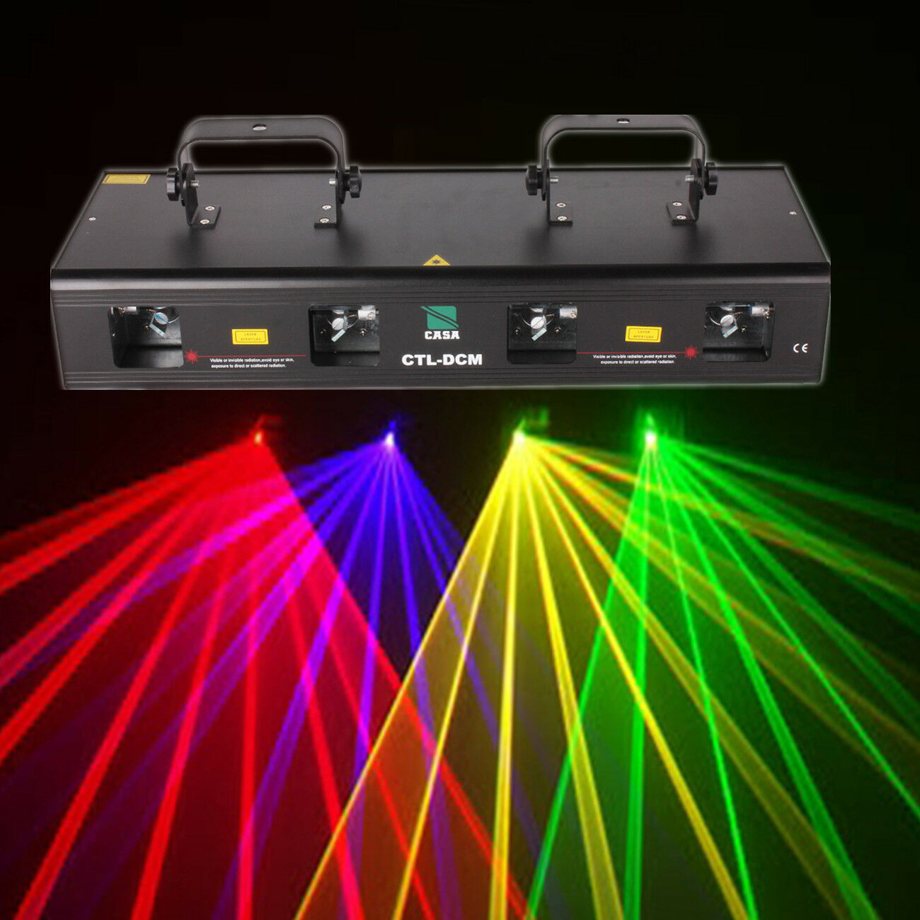 4 Lens Stage Light Disco DJ Party RGYB Disco Stage DMX 460mW Laser Light