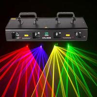 4 Lens Stage Light Disco DJ Party RGYB Disco Stage DMX 460mW Laser Light
