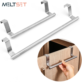 Stainless Steel Towel Rack Bathroom Towel Holder Stand Kitchen Cabinet Door Hanging Organizer Shelf Wall Mounted Towels Bar towel holder stainless steel doubel towel bar holder bathroom towel rack hanging holder wall mounted toilet clothes hanger shelf