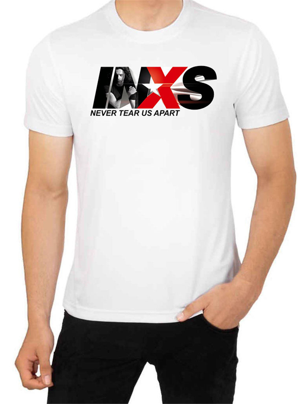 INXS Suicide Blonde Men Rock Tour T Shirt Band Punk Pop Men/'s Top High Quality