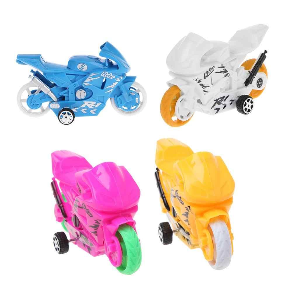 Creative Mini Motorfiets Model Educatief Speelgoed Auto Geschenken Voor Baby Jongens Kids Geel B36E