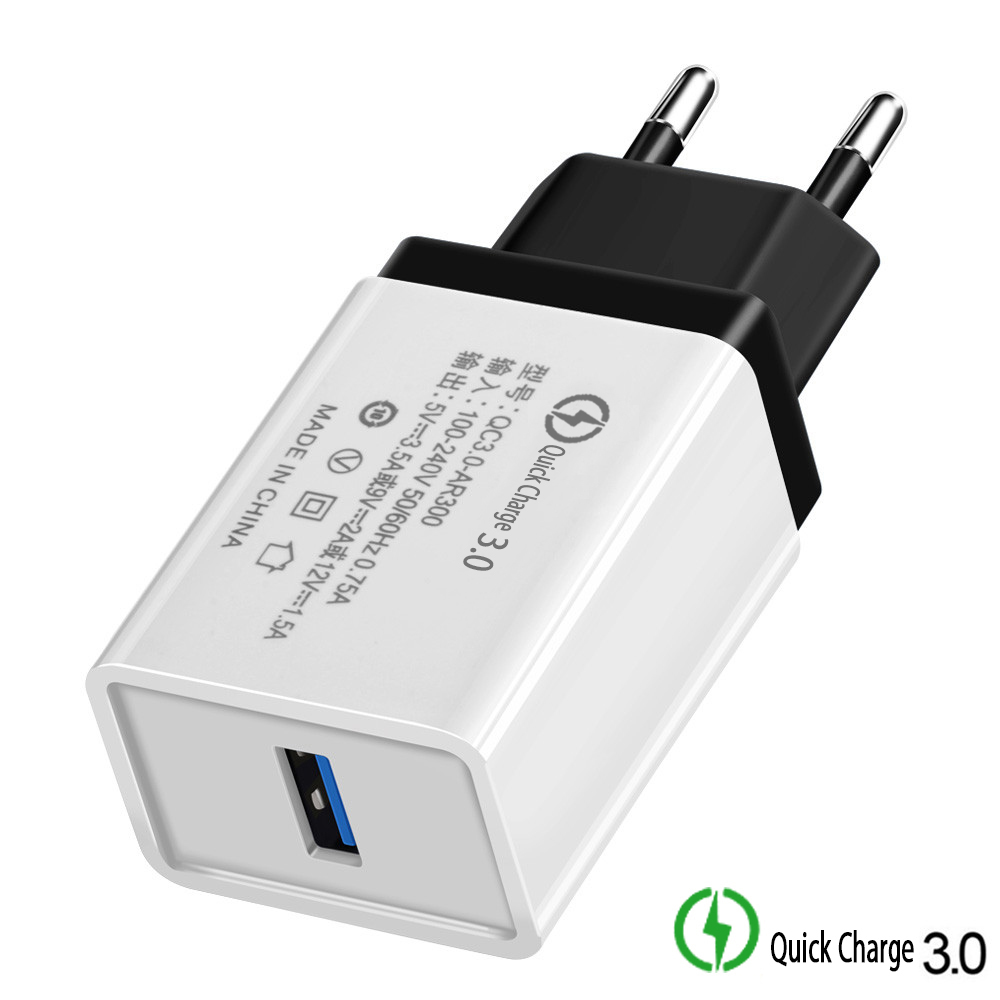 Quick Charge 3.0 USB EU/USA Plug Charger Travel Wall 5V 3.5A Fast Charge Adapter For Iphone Samsung Huawei Tablets Phone Charger
