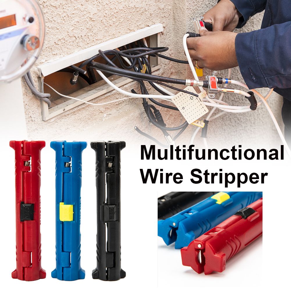 Electric Multi-function Wire Stripper Pen Wire Cable Pen Cutter Rotary Coaxial Cutter Stripping Machine Pliers Cable Puller To