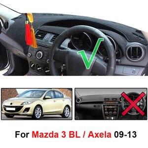 Image 2 - For Mazda 3 Axela 2009 2010 2011 2012 2013 Dashboard Cover Dashmat Dash Mat Sun Shade Right Hand Drive Carpet Non slip Car Pad