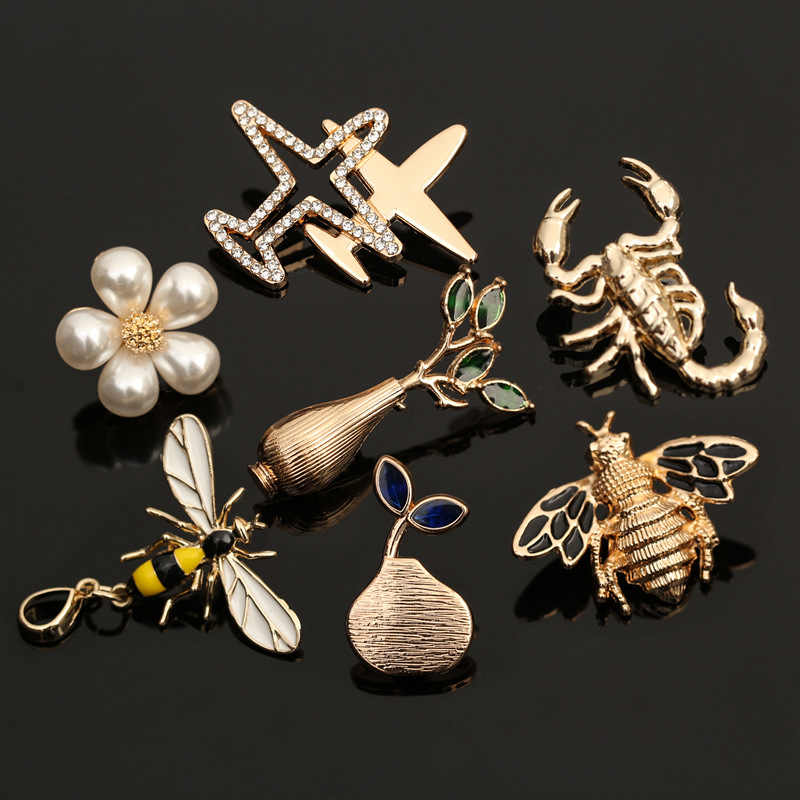 Vintage Bee Insect Metal Decor Pin Brooch Silver//Bronze Jewelry Lapel Pins Badge