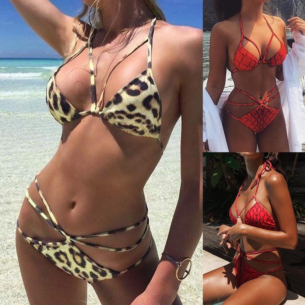 Factory direct sales Women's Bikini Print Set Swimsuit Two Piece Filled Bra Swimwear Beachwear Are you sure not to buy it?  2020