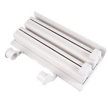 1Pcs Kitchen Paper Towel Holder Plastic Triple-Layer Portable Slicer Roll Shelf Wrap Tin