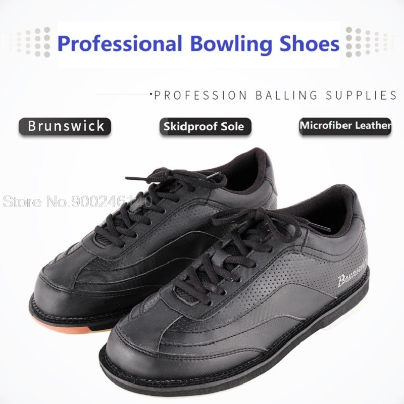 Professional Bowling Shoes Men Soft Footwear Skidproof Sole Sneakers Male Breathable Trainers Microfiber Leather Shoe Size