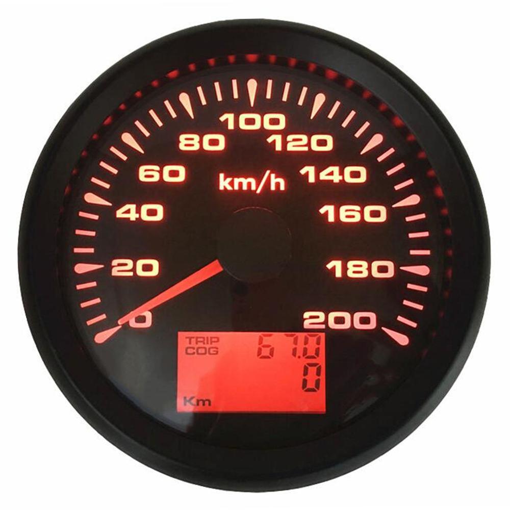 1pc nouveau Style 85mm GPS compteurs de vitesse 0-200 km/h étanche GPS compteur kilométrique de vitesse mètres de voyage 9-33vdc pour voiture camion moto