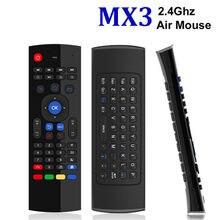 Teclado inalámbrico T3M, 2,4G, Air Mouse, ruso, 44, IR, aprendizaje, micrófono, búsqueda por voz para Dispositivo de TV inteligente, PK, MX3, t3, Control remoto