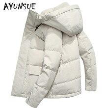 AYUNSUE зимнее пальто Мужская 90% белая куртка-пуховик Корейский мужской пуховик с капюшоном теплая парка Casaco SY19D8651F YY1453