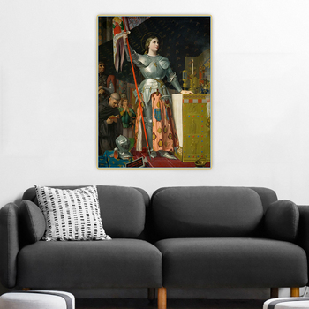 Citon Ingres《Joan of Arc at the Coronation of Charles VII》Canvas Art Oil Painting Picture Background Wall Decor Home Decoration image