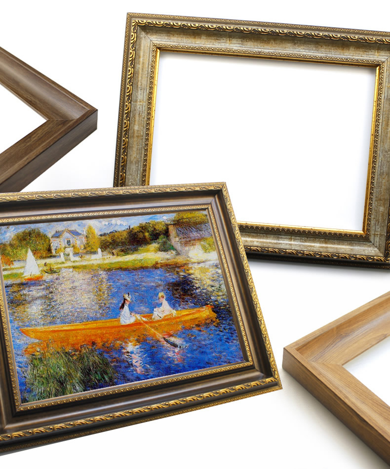 Classic European DIY art Wood-like plastic Picture frame  Canvas Painting Frame For Oil Paintings Frame For Home Decoration Art