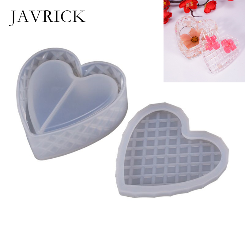 Heart-shaped Cut Section Mold DIY Crystal Epoxy Storage Box Mould Jewelry Gift Case DIY Accessories Jewelry Making