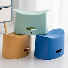 Portable Folding Stool Camping Plastic Foldable Chair with Handle Hole for Fishing 3 Colors Sturdy Stable PP Made