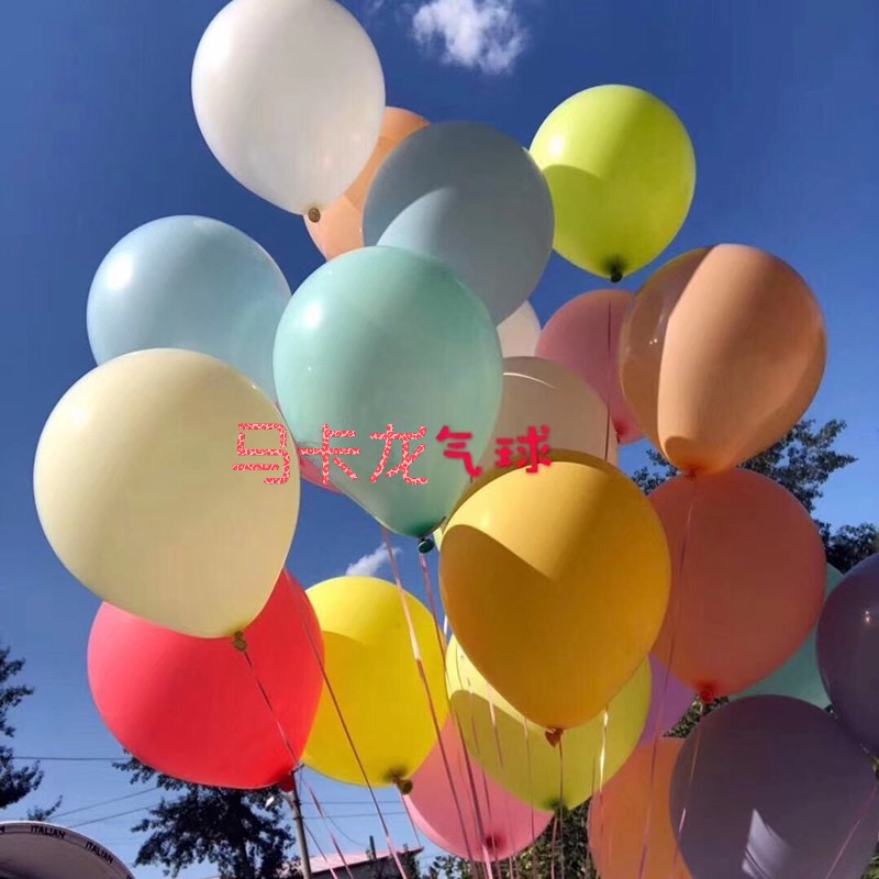 30pcs 10Inch Macarons Color Pastel Candy Balloons Latex Round Helium Baloons For Birthday Party