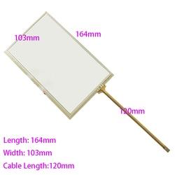 Novo 164mm * 103mm 7 polegadas 4-wire 4791 painel de toque resistive para o carro dvd, 164*103 gps navigator tela vidro 165*103