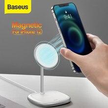 Baseus magnético desktop suporte do telefone carregador sem fio para iphone 12 pro max suporte do telefone carregador sem fio para iphone 12 mini