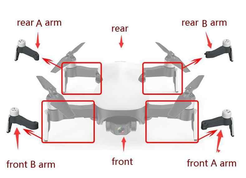 CFLY glauben JJRC X12 RC drone Quadcopter ersatzteile blade propeller fahrwerk Arm mit motor ladegerät usw.