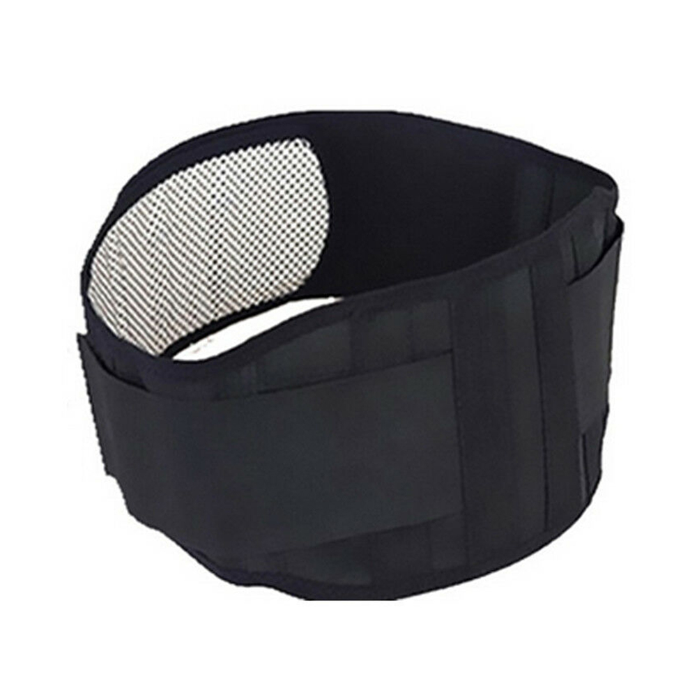 Black Waist Lumbar Disc Therapy Belt Support Brace Self-heating Magnetic Tourmaline Healthy Supplies