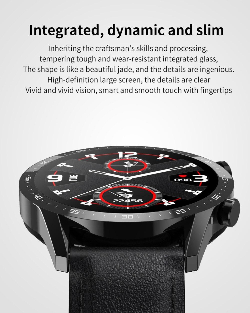 Relógio inteligente telefone tela de toque completa