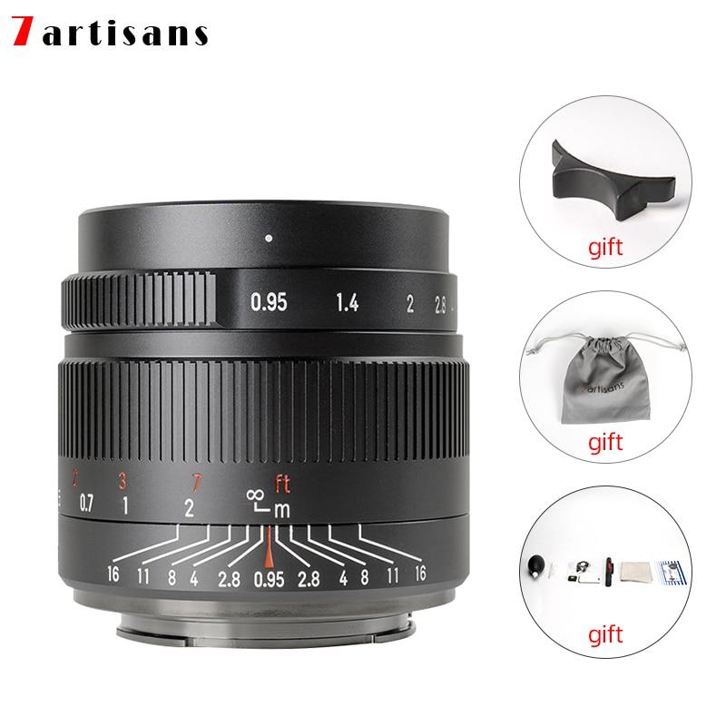 7 artisans 35 мм F0.95 фиксированным фокусным расстоянием большой апертурой портретный объектив для Sony E mount/Fuji/однообъективной зеркальной камеры ...
