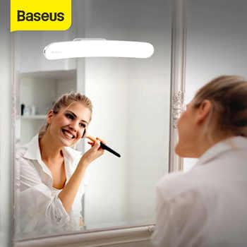 Baseus USB Luz LED para espejo maquillaje espejo vanidad luz ajustable espejo lámpara portátil maquillaje luces para tocador de baño