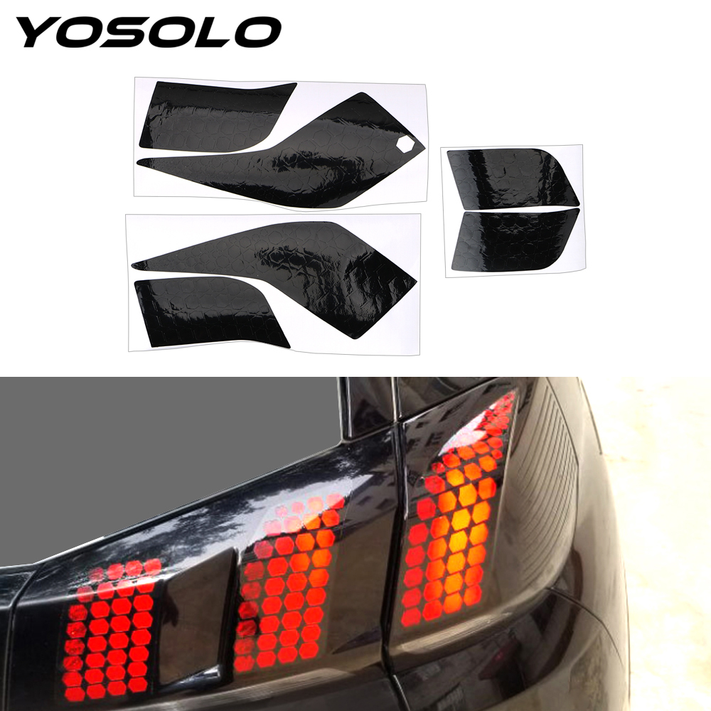 YOSOLO 1 Set  For Peugeot 3008 4008 5008 Honeycomb Taillight Sticker Film Modified Car Sticker Exterior Accessories