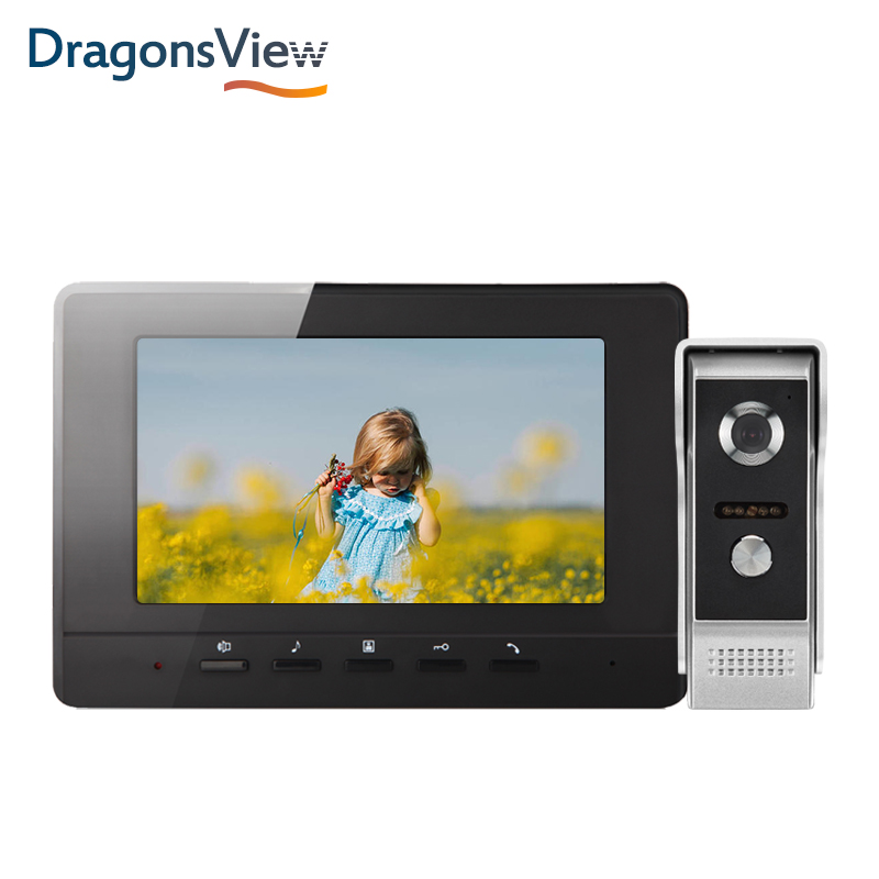 DragonsView Video Doorbell Intercom System 7 Inch 1000 TVL Video Door Phone Entry Panel Day Night Vision for Home Security