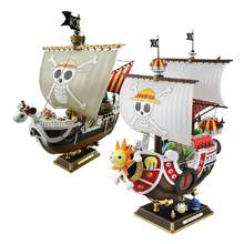 35cm anime uma peça mil ensolarado indo feliz barco pvc figura de ação coleção pirata modelo navio brinquedo montado presente natal