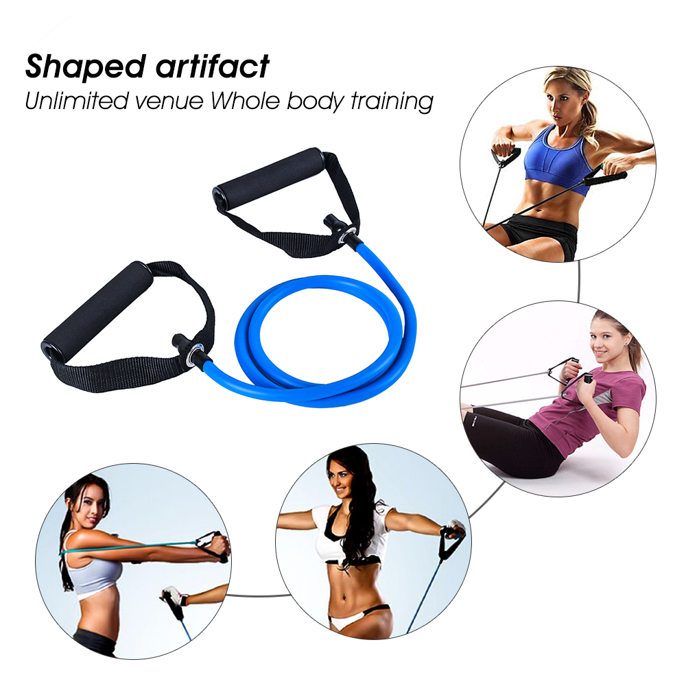 Practical Yoga Pull Rope Elastic Resistance Band Body Fitness Yoga Equipment Exercise Training Rubber Tensile in Resistance Bands from Sports Entertainment