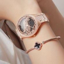 New 3D Cheetah Full Diamond Steel Band Bracelet Watch Women Quartz Watch lady Top Brand Luxury Watches Female Waterproof Clock цена 2017