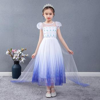 2020 Summer Frozen 2 Elsa Dress Girl Anna Kids Dresses For Girls Children Printed Birthday Party Princess Cosplay Dress baby girls dress christmas anna elsa cosplay costume summer dresses girl princess elsa dress for birthday party vestidos menina