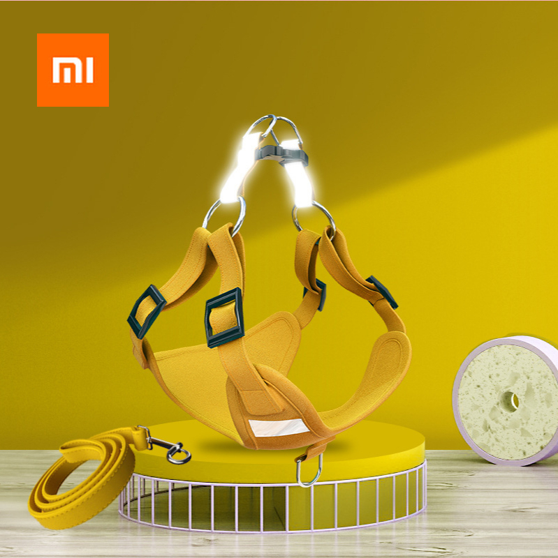 Xiaomi Pet Dog Reflective Harness Vest Cute Harness and Leash Set for Small Medium Dogs Puppy Anti-escape for Walking Dogs