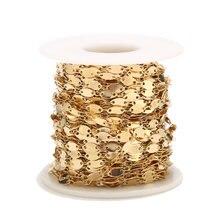 Chaîne de collier en acier inoxydable fait à la main, couleur or, pour la fabrication de bijoux DIY, nouvelle collection