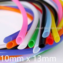 Tubo de silicona 10x13 manguera de goma Flexible ID 10mm OD 13mm espesor 1,5mm Tubo de bebida de leche suave de grado alimenticio conector de agua