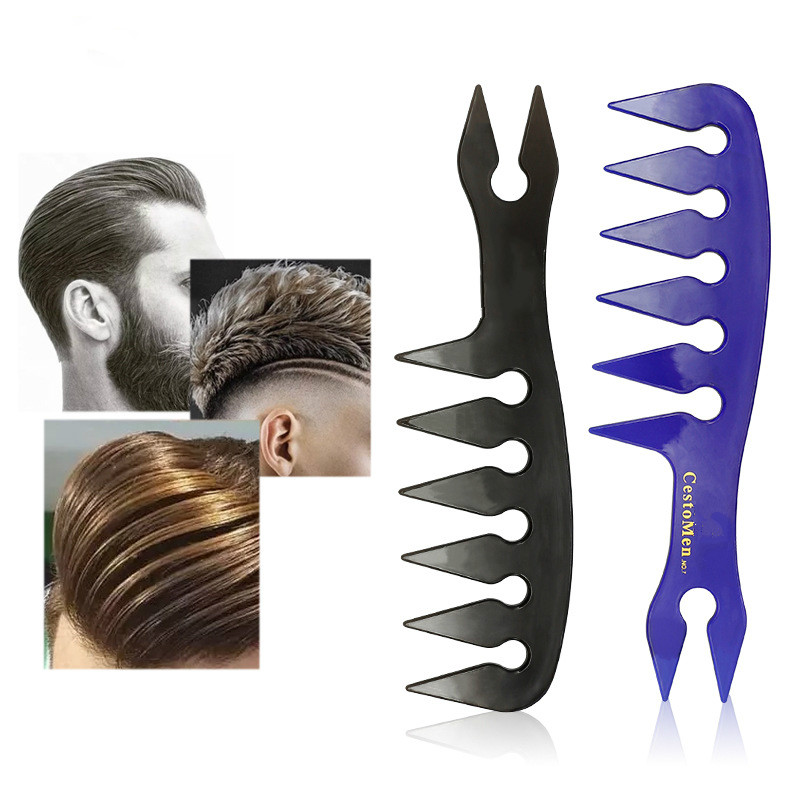 Men's Fashion Barber Comb For Building Up Hair Texture Ideal Styling Men Comb In Wide Teeth New Design Hairdressing Comb Tools