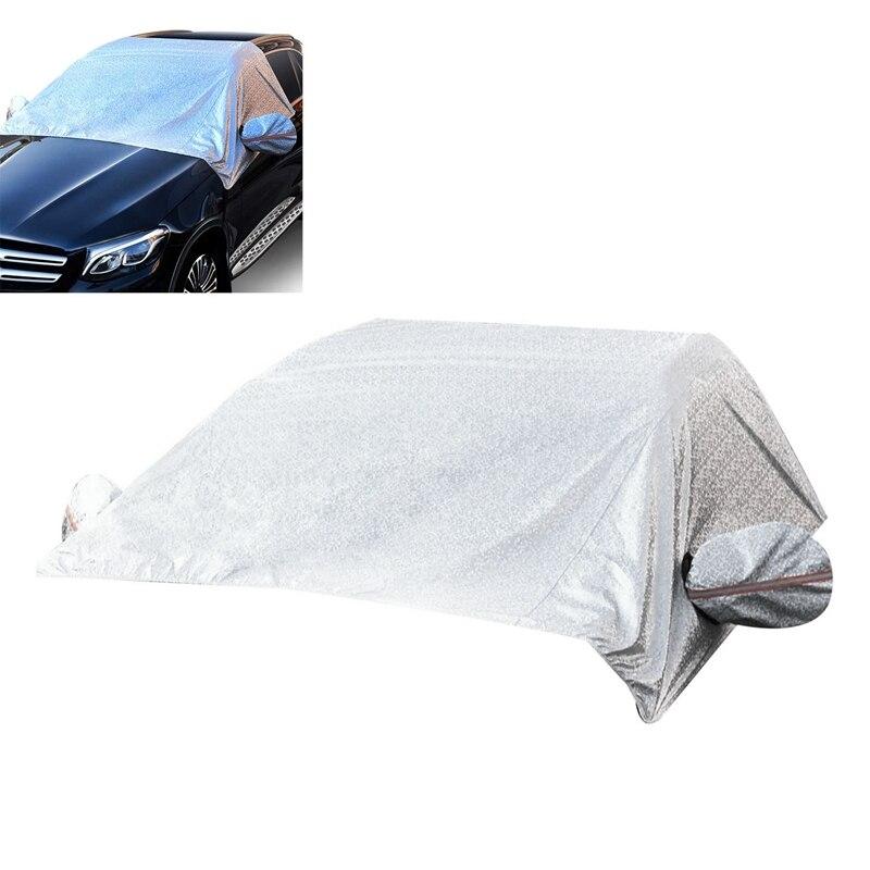 Otomobiller ve Motosikletler'ten Sütyen'de 95 inç X 55 inç araç ön camı kar kapak ayna ile kar kapakları korumak için ön cam ve ayna kar  buz ve Frost f title=