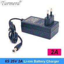 Turmera 12.6V 16.8V 21V 25V 2A 18650 chargeur de batterie au Lithium DC5.5 * 2.1MM pour 3S 4s 5s 6S 12V à 25V