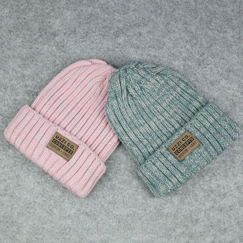 Женские Простые шапки бини для девочек, женские шапки в стиле хип-хоп, хлопковые однотонные теплые мягкие вязаные шапки в стиле хип-хоп, мужские зимние шапки