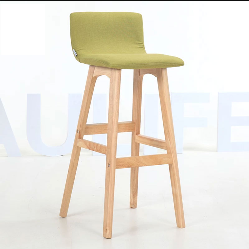 Nordic Chair Non-slip Bench Modern Simple Household Front Desk Bar Bookstore Solid Wood Leisure High Stool