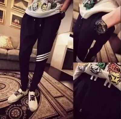 Skinny Pants Men's Slim Fit Harem Pants Korean-style Cone Slimming Sweatpants Fashion Man Casual Gymnastic Pants