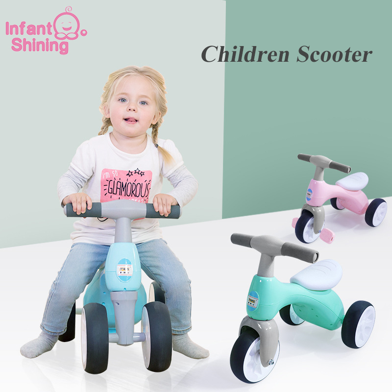 Infant Shining Children Scooter 3/4 Wheels Children Twist Car Tricycle Baby Learning Walk 18m-5years Kids Scooter Balance Bike